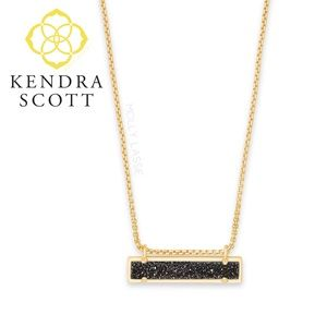 Kendra Scott Black Drusy Necklace Leanor